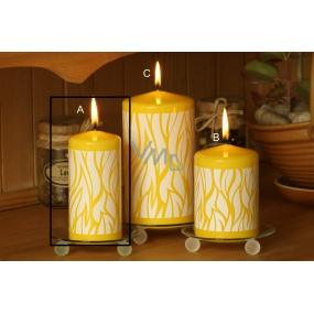 Lima Savana svíčka žlutá válec 60 x 120 mm 1 kus