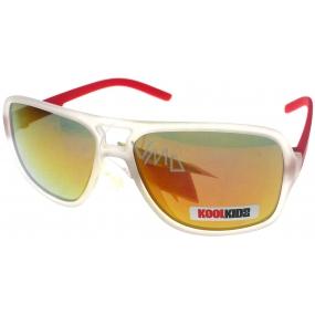Dudes & Dudettes JK447 červené ručky sluneční brýle pro děti