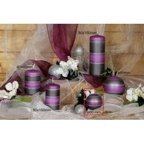 Lima Elegance Gray svíčka fialová koule průměr 60 mm 1 kus