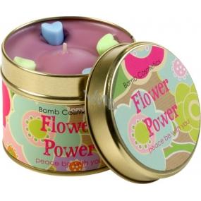 Bomb Cosmetics Síla květin vonná přírodní, ručně vyrobena svíčka v plechové dóze hoří až 35 hodin