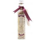 Bohemia Gifts Lavendule s extraktem z bylin koupelová uklidňující sůl s filtračním sáčkem 260 g skleněný obal
