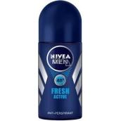 Nivea Men Fresh Active kuličkový antiperspirant deodorant roll-on pro muže 50 ml