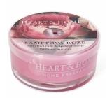 Heart & Home Sametová růže Sojová vonná svíčka v mističce hoří až 12 hodin 36 g