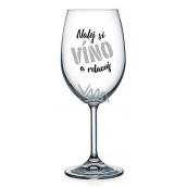 Nekupto Na Zdraví sklenice na víno Nalej si víno a relaxuj 440 ml
