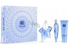 Thierry Mugler Angel parfémovaná voda plnitelný flakon pro ženy 25 ml + tělové mléko 50 ml + miniatura 10 ml, dárková sada