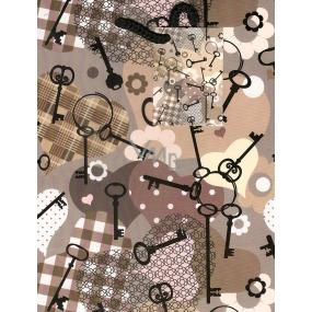 Nekupto Dárková papírová taška střední 23 x 18 x 10 cm Klíče 1 kus 815 02 BM