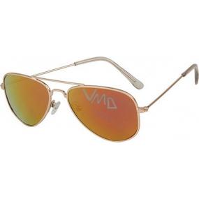 Dudes & Dudettes JK378 zlaté sklo sluneční brýle pro děti