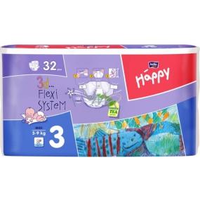 Bella Happy 3 Midi 5-9 kg plenkové kalhotky 32 kusů