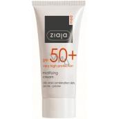 Ziaja Med Protecting SPF 50+ UVA + UVB matující opalovací krém mastnou a smíšenou pleť 50 ml