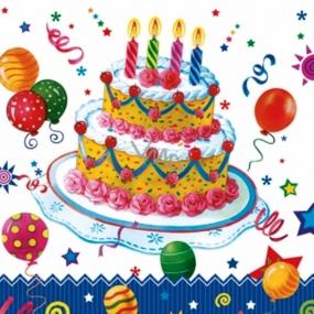 Daisy Papírové ubrousky dort 3 vrstvé 33 x 33 cm 20 kusů