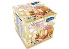 Big Soft Christmas papírové kapesníky vůně skořice s pomerančem bílé 2 vrstvé 75 kusů