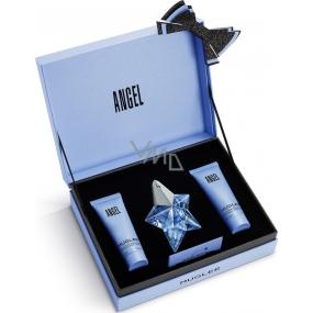 Thierry Mugler Angel parfémovaná voda plnitelný flakon pro ženy 25 ml + tělové mléko 50 ml + sprchový gel 50 ml, dárková sada