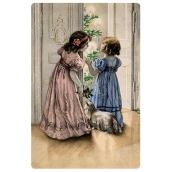 Bohemia Gifts & Cosmetics Aromatická vonná karta Vánoční večer vůně směsi jablka a skořice 10,5 x 16 cm