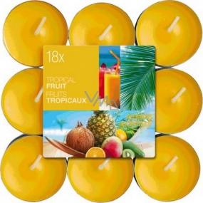 Bolsius Aromatic Tropical Fruit - Tropické ovoce vonné čajové svíčky 18 kusů, doba hoření 4 hodiny