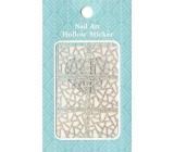 Nail Accessory Hollow Sticker šablonky na nehty 129 multibarevná vitráž 1 aršík