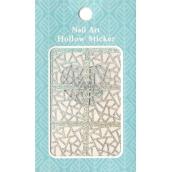 Nail Accessory Hollow Sticker šablonky na nehty multibarevná vitráž 1 aršík 129