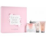 Lancome La Vie Est Belle parfémovaná voda pro ženy 50 ml + tělové mléko 50 ml + sprchový gel 50 ml, dárková sada