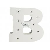 Nekupto Dřevěné LED písmeno B dekorace 16 cm
