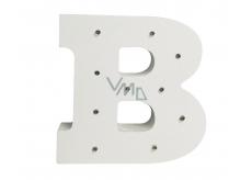Nekupto Dřevěné LED písmeno B dekorace 16 cm NLE 002