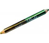Princessa Davis Eye Double Colour oční stíny v tužce 021 světle zelená a zlatá 6 g
