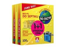 Bio-Enzym Bio-P1 biologický přípravek k likvidaci organických nečistot do septiku, žumpy, suchého záchodu 2 x 100 g, duopack