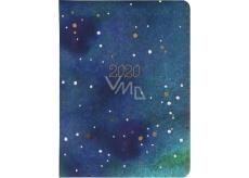Albi Diář 2020 denní Hvězdná tapeta 17 x 12,6 x 2,4 cm