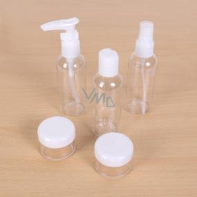 Albi Original Cestovní sada lahviček 3 x 80 ml + 2 nádobky + Hortenzie pouzdro - 15 cm x 15 cm x 4,5 cm