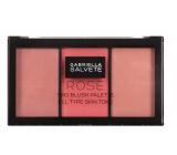 Gabriella Salvete Trio Blush Palette tvářenka 02 Rose 15 g