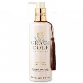 Grace Cole Oud Accord & Velvet Musk - Oudové dřevo a sametové pižmo jemné mléko na ruce dávkovač 300 ml