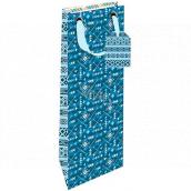 Nekupto Dárková papírová taška na láhev 12,5 x 32,5 x 8 cm Indiánský vzor 1850 LILH