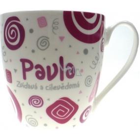 Nekupto Twister hrnek se jménem Pavla růžový 0,4 litru