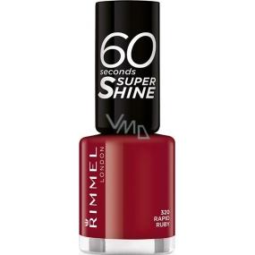 Rimmel London 60 Seconds Super Shine Nail Polish lak na nehty 320 Rapid Ruby 8 ml