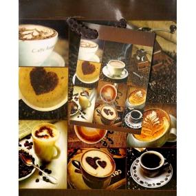 Nekupto Dárková papírová taška malá 801 01 BS káva a šálek 14 x 11 x 6,5 cm
