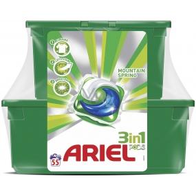 Ariel 3v1 Mountain Spring gelové kapsle na praní prádla 23 kusů + 32 kusů