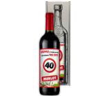 Bohemia Gifts Chardonnay Vše nejlepší 40 bílé dárkové víno 750 ml