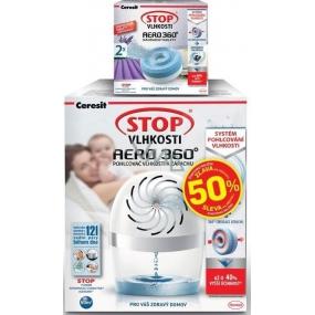 Ceresit Stop vlhkosti Aero 360 pohlcovač vlhkosti komplet bílý 450 g + Ceresit Stop vlhkosti Aero 360 Levandule náhradní tablety 2 x 450 g