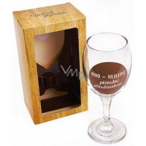 Albi Sklenička na víno Víno je nejlepší přírodní afrodisiakum 220 ml