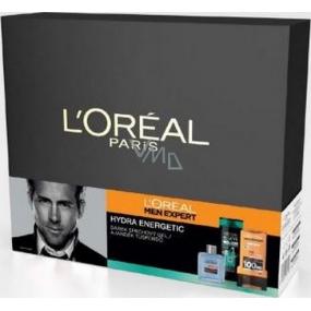 Loreal Paris Men Hydra Energetic voda po holení 100 ml + Elseve šampon pro omezení padání vlasů 250 ml + sprchový gel 300 ml, kosmetická sada
