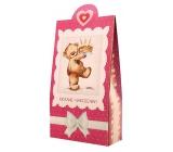 Bohemia Gifts & Cosmetics Pralinky z mléčné a hořké čokolády s náplní se smetanou a Irish whiskey Krásné narozeniny méďa 100 g