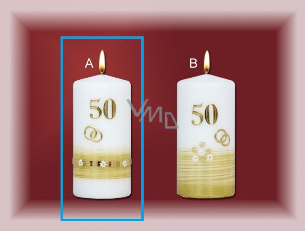 Lima Jubiläum 50 Jahre Kerze Goldene Hochzeit Motiv A 70 X 150 Mm 1 Stück