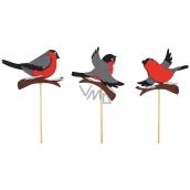 Ptáček z filcu zápich 8 cm + špejle