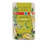 Bohemia Gifts & Cosmetics Olivový olej, glycerin a extrakt z citrusů relaxační toaletní mýdlo 100 g