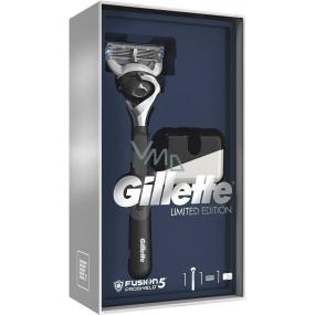 Gillette Fusion5 ProShield holicí strojek pro muže s černou rukojetí + stojan na holicí strojek, kosmetická sada
