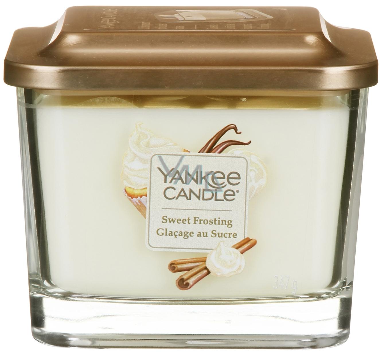 Yankee Candle Sweet Frosting - Sladká poleva sojová vonná svíčka Elevation střední sklo 3 knoty 347 g
