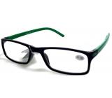 Berkeley Čtecí dioptrické brýle +1,5 plast černé zelené stranice 1 kus MC2 ER4045