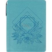Albi Diář 2020 týdenní s propiskou Květiny 14,5 x 11 x 1,1 cm