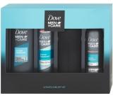 Dove Men + Care Clean Comfort sprchový gel pro muže 250 ml + sprchová pěna 200 ml + antiperspirant sprej pro muže 150 ml + láhev na vodu, kosmetická sada