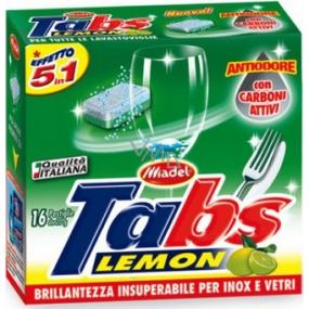 Tabs Lavastoviglie Lemon 5v1 multifunkční tablety do myčky 16 kusů
