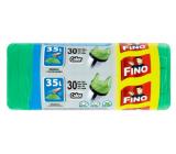 Fino Color Sáčky do odpadkového koše s uchy zelený 35 litrů, 49 x 60 cm, 8 µm, 30 kusů
