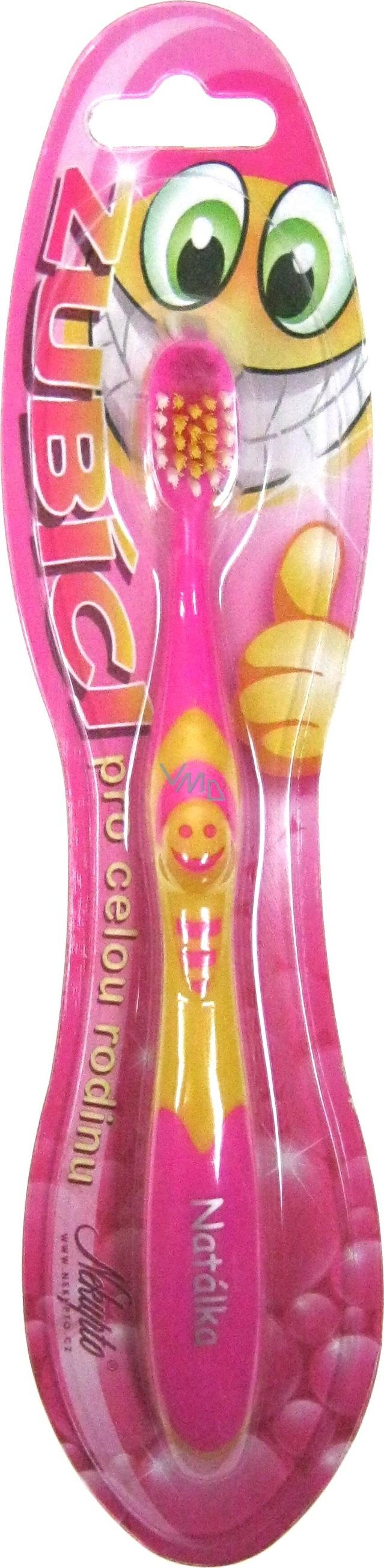 Nekupto Zubíci zubní kartáček pro děti se jménem Natálka měkký 1 kus